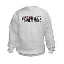 My Heart Belongs To Combat Medic Sweatshirt