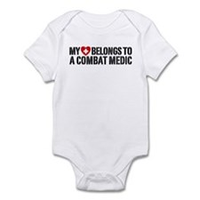 My Heart Belongs To Combat Medic Infant Bodysuit