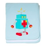 Robot Power baby blanket