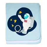 Space Walk baby blanket