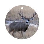 Muley Buck Ornament (Round)