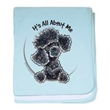 Black Poodle Lover baby blanket