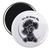 Black Poodle Lover 2.25&quot; Magnet (10 pack)