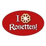 I Love Rosettes Decal