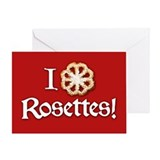 I Love Rosettes Greeting Card
