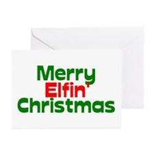 Merry Elfin' Christmas Greeting Cards (Pk of 20)