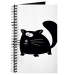 Cute Black Cat Journal