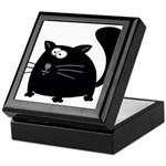 Cute Black Cat Keepsake Box
