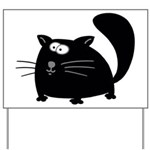 Cute Black Cat Yard Sign