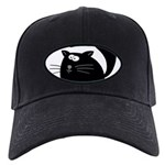 Cute Black Cat Black Cap