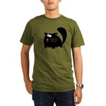 Cute Black Cat Organic Men's T-Shirt (dark)
