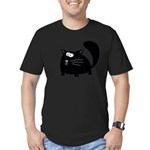 Cute Black Cat Men's Fitted T-Shirt (dark)