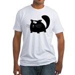 Cute Black Cat Fitted T-Shirt