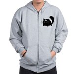 Cute Black Cat Zip Hoodie