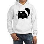 Cute Black Cat Hooded Sweatshirt
