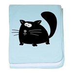 Cute Black Cat baby blanket