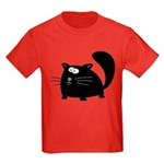Cute Black Cat Kids Dark T-Shirt