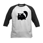 Cute Black Cat Kids Baseball Jersey