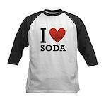 I Love Soda Kids Baseball Jersey