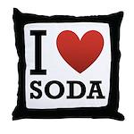 I Love Soda Throw Pillow