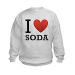 I Love Soda Kids Sweatshirt