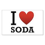 I Love Soda Sticker (Rectangle 50 pk)