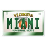 """MIAMI"" Florida License Plate  Aufkleber"
