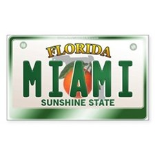"""MIAMI"" Florida License Plate Decal"