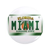 """MIAMI"" Florida License Plate 3.5"" Button (100 pac"