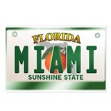 &quot;MIAMI&quot; Florida License Plate Postcards (Package o