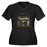Mr Deemz Sex Machine Women's Plus Size V-Neck Dark