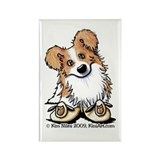 Curious Border Collie Rectangle Magnet (10 pack)