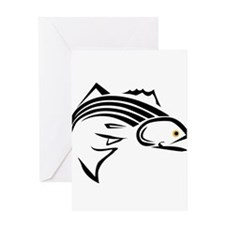 Striper Graphic Greeting Card