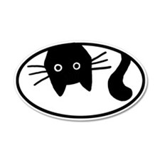 Whiskers the Cat 35x21 Oval Wall Peel