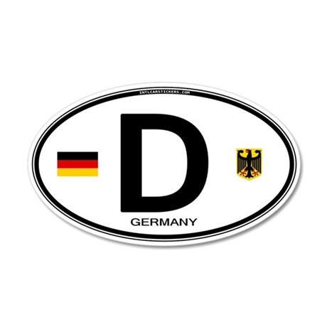 Germany Country Code Oval 35x21 Oval Wall Peel