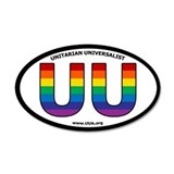 Rainbow UU Bumper 20x12 Oval Wall Peel with UUA we