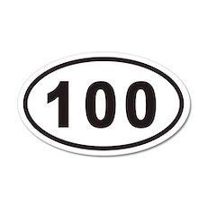 100 Euro 20x12 Oval Wall Peel