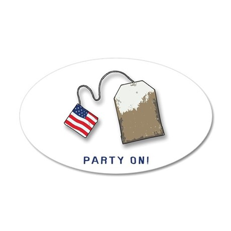 PARTY ON! Tea Party 20x12 Oval Wall Peel