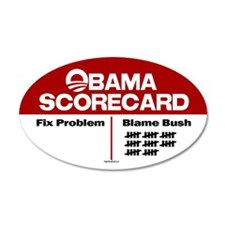 Obama Scorecard 20x12 Oval Wall Peel