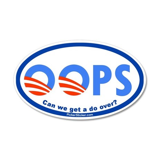 OOPS Obama Sticker Tea Party Glenn Beck (Oval)