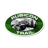 Rubicon Trail Green Oval 20x12 Oval Wall Peel