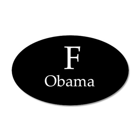 F Obama 20x12 Oval Wall Peel