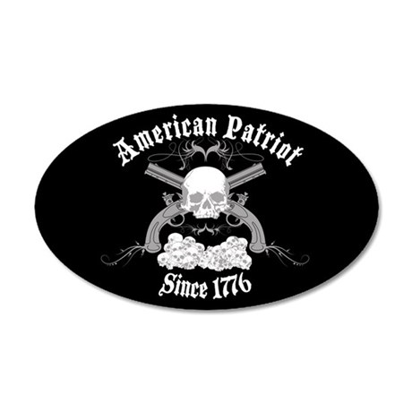 American Patriot Since 1776 35x21 Oval Wall Peel