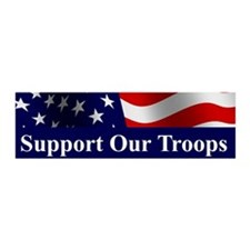 Support Our Troops 20x6 Wall Peel