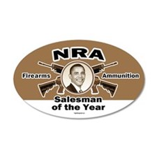 Firearms & Ammo Salesman 20x12 Oval Wall Peel