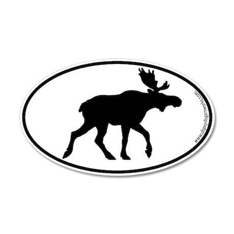 Moose SILHOUETTE 20x12 Oval Wall Peel