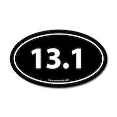 13.1 Half Marathon 35x21 Oval Wall Peel -Black (Ov