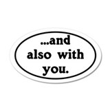 And Also With You Church Van Sticker