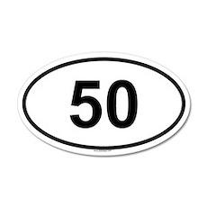 50 20x12 Oval Wall Peel
