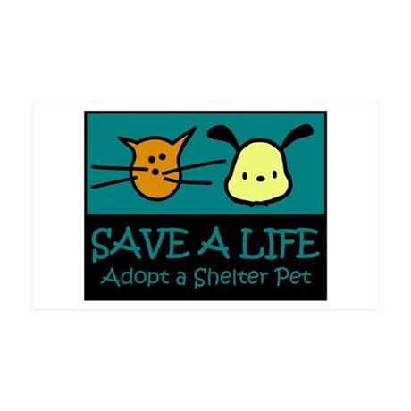 Save A Life Adopt a Pet 35x21 Wall Peel